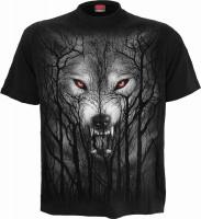 Forest Wolf T-Shirt schwarz