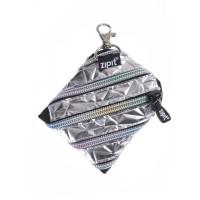 ZIPIT Metallic Mini Pouch Silver
