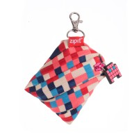 ZIPIT Pixel Mini Pouch Blue and Red