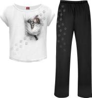 Pocket Kitten 4teilig Gothic Pyjama Set