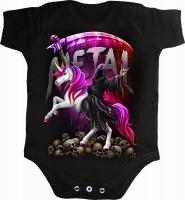 Metallicorn Babystrampler