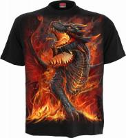 Draconis Kinder T-Shirt schwarz