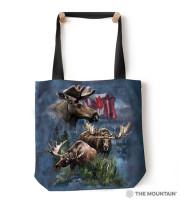 Canadian Moose Collage Tragebeutel