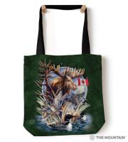 Canada Loon Collage Tragebeutel