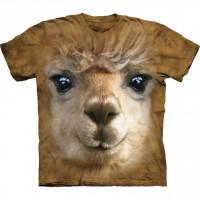 Big Face Alpaca Farm & Food Adult Small Unisex T Shirt