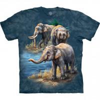 Asian Elephants Animal T Shirt