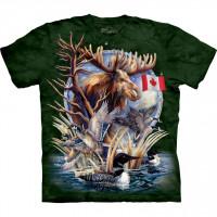 Canada Loon Collage Patriotic Animal T-Shirt