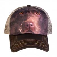 Dog Chocolate Lab Face Trucker Kappe verstellbar