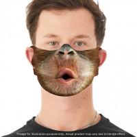 Baby Orang-Utan Gesichtsbedeckung mit Ohrschlitzen