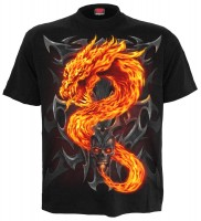 Fire Dragon - T-Shirt schwarz