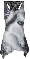 White Wolf AllOver - Langshirt schwarz   AUSLAUFARTIKEL