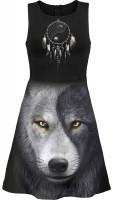 Wolf Chi - AllOver Skater Midi Kleid   AUSLAUFARTIKEL