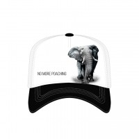 Elephant No Poaching Trucker Kappe verstellbar