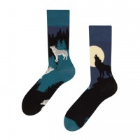 Good Mood Moon Wolf Erwachsenen Socken