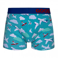 Good Mood Airplanes & Clouds Mens Transport Fitted Trunks