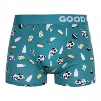 Good Mood Cow Mens Farm Animal Fitted Trunks