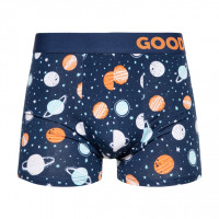 Good Mood Cosmos Mens Space Themed Fitted Trunks