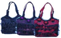Satin Handtasche mit Schulterriemen - NT255