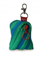 ZPT Twister Coin Purse - Turquoise Blue & Spring Green