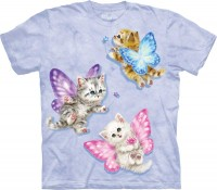 Butterfly Kitten Fairies Kinder T-Shirt