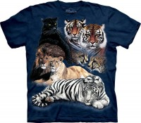Big Cat Collage Kinder T-Shirt