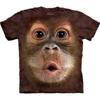 Big Face Baby Orang Utan Kinder T-Shirt