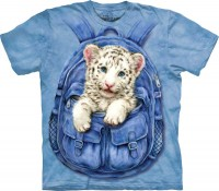 Backpack White Tiger Kinder T-Shirt