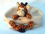 Fleeceschal mit Giraffe