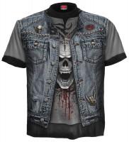 Thrash Metal T-Shirt Rundumdruck