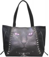 Black Cat Kunstleder Tragetasche