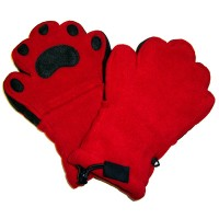 Fleece Handschuhe - Rot (Kids)