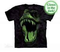 Big Face Glow Rex Kinder T-Shirt