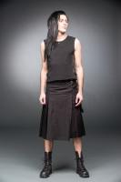 Schwarzer Kilt mit Schnallen und Seitentasche  Auslaufartikel