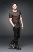 Hose mit schwarzen Lederimitatapplikationen