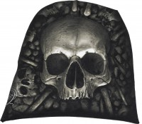 Catacomb luftiger Baumwollbeanie schwarz